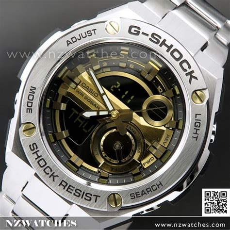 G Shock Casio Rantai Stainless Steel Gsts4 buy casio g shock analog digital g steel layer guard stainless steel mens gst 210d 9a