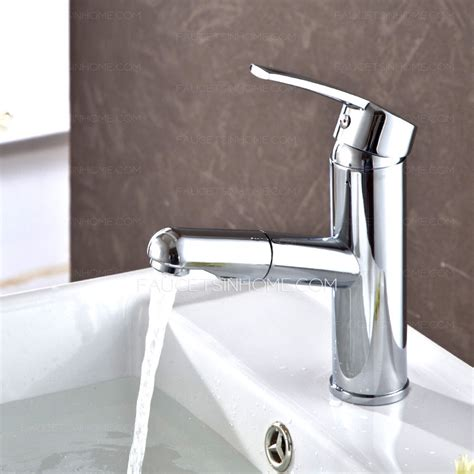 Discount Bathroom Faucets And Fixtures Discount Pullout Spray Copper Chrome Bathroom Sink Faucet