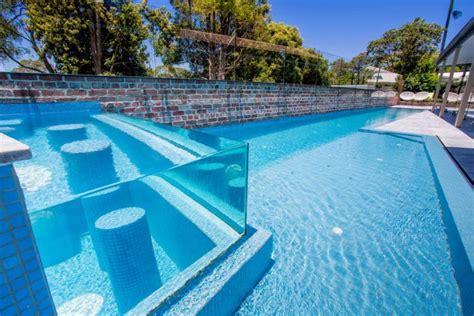 korora lap pool elevated glass spa atlas pools