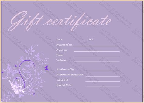purple certificate template editable gift certificate template search results