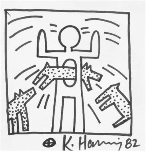 keith haring free coloring pages