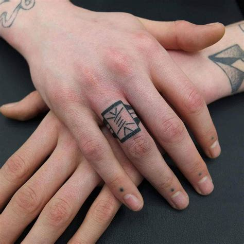tribal ring finger tattoos 50 ring designs to immortalize your