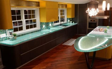 trends in kitchen countertops modern glass kitchen countertop ideas latest trends in