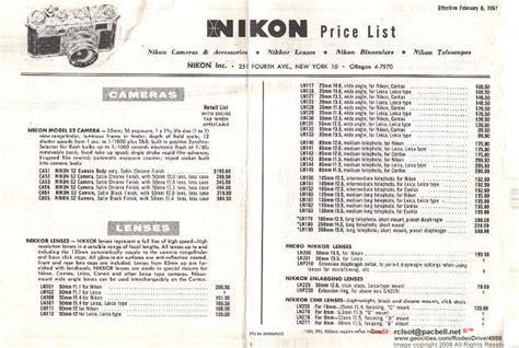 nikon price list a libary of price list for nikon nippon kogaku kk