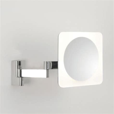 polished chrome bathroom mirrors astro niimi square led polished chrome bathroom mirror