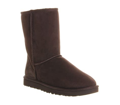 ugg classic boots in brown chocolate lyst