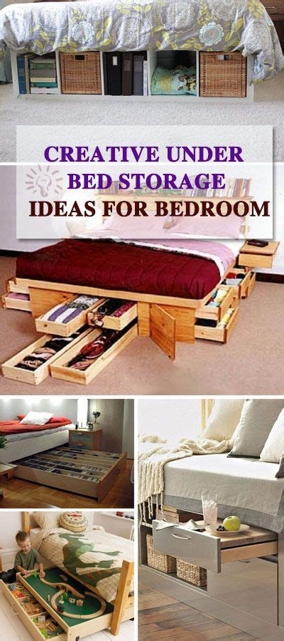 30 Clever Bedroom Storage Ideas For Organization 25 Best Ideas About Bed Organization On