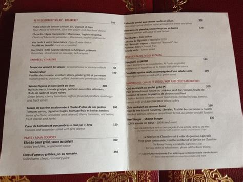 in room dining menu in room dining menu picture of palace marrakech