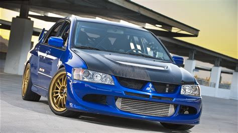 mitsubishi evo wallpaper blue sporty mitsubishi lancer evolution ix wallpapers and