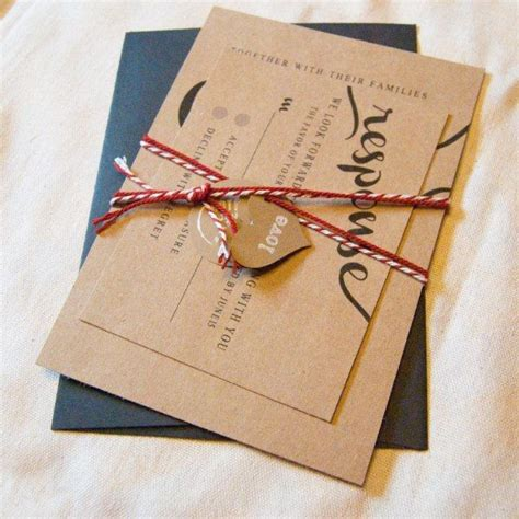 brown paper wedding invitations 17 best images about kraft brown paper wedding stationery