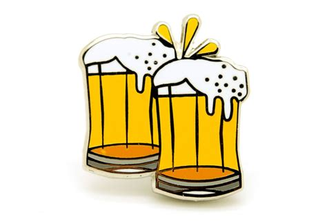 beer cheers cartoon cheers beer mugs pin pintrill
