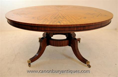 Marquetry Dining Table Regency Centre Dining Table In Satinwood Marquetry Inlay Tables