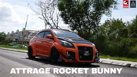 kereta mitsubishi attrage rocket bunny mitsubishi attrage custom design by n1 body