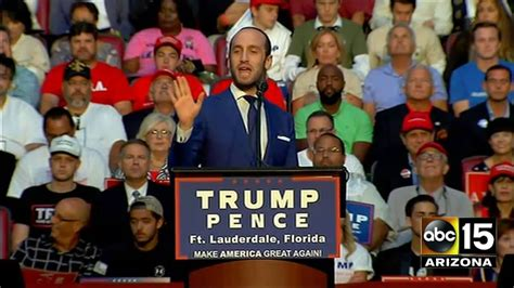 stephen miller trump speech full speech stephen miller at donald trump rally in ft