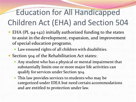 section 504 of the rehabilitation act education chapter one powerpoint instructional strategies 1
