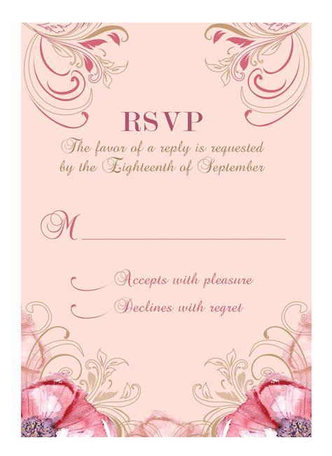 wedding invitation response card template excel pdf formats