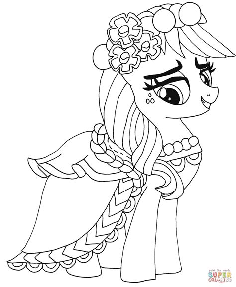 Applejack Pony Coloring Pages My Little Pony Applejack Super Coloring by Applejack Pony Coloring Pages