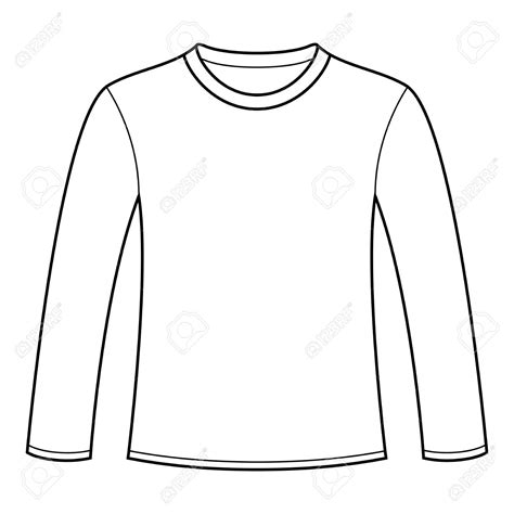 Long Sleeve Shirt Template Design Pictures To Pin On Longsleeved Tshirt Template Stock Vector Blank Sleeve T Shirt Template