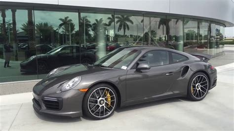 grey porsche 911 turbo 2017 agate grey porsche 911 turbo s 580 hp porsche west