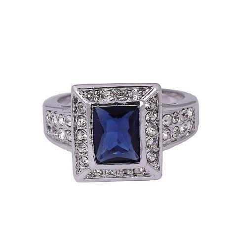 Kotak Cincin Putih Jewellery Box cincin pria ring 8 cz sapphire 10k wgf