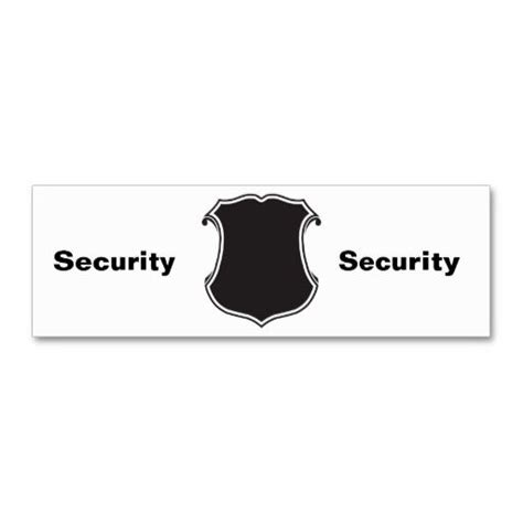 Uscg Business Cards Templates by Shield Business Card Templates Security Guard Business
