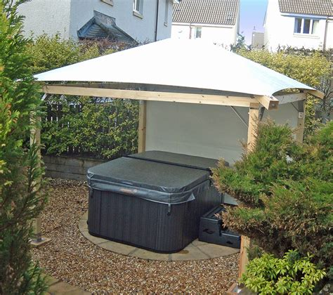 hot tub awnings relax in style hot tub gazebos swim spa enclosures