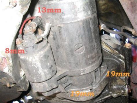 porsche 944 starter removal