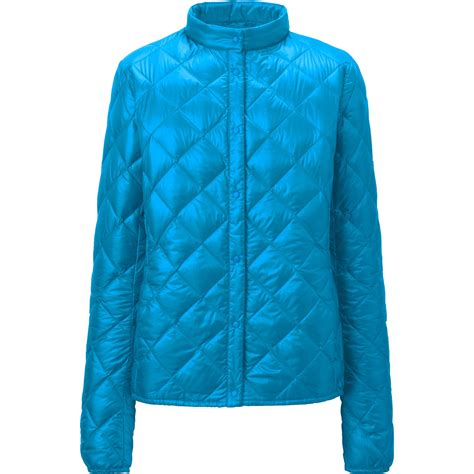 Womens Blue Quilted Jacket by Uniqlo Ultra Light Compact Quilted Jacket In
