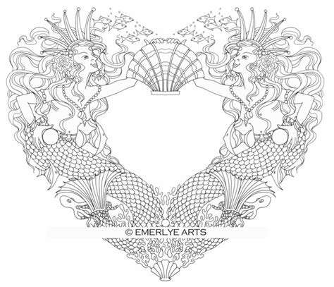 coloring pages for adults hearts cynthia emerlye vermont artist and coach mermaid
