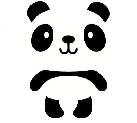 panda tattoo cartoon cute black and white cartoon smiling panda tattoo