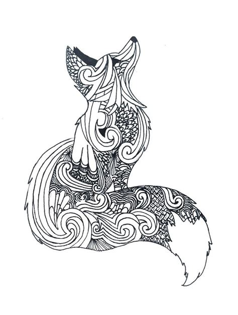 animal tattoo database zentangle fox my art pinterest foxes tattoo and draw