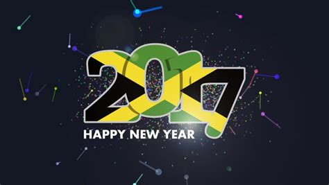 new year in jamaica jamaica flag stock footage