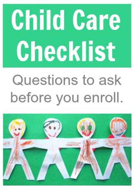 child care checklist questions to ask before you enroll awesome dr who and toddlers