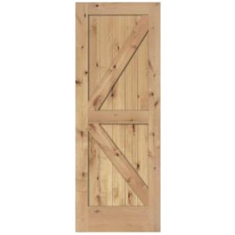 Steves And Sons Interior Doors Steves Sons 24 In X 84 In 2 Panel Solid Unfinished Knotty Alder Interior Barn Door Slab
