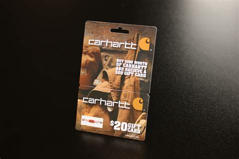 Carhartt Gift Cards - hanging gift cards are mini billboards for carhartt
