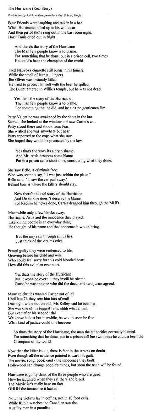 dylan s hurricane new lyrics by jodi