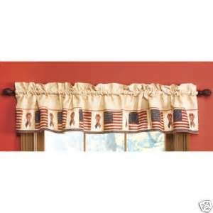 Americana Kitchen Curtains Patriotic Americana Flag Window Valance By Spivey Window Treatment Valances