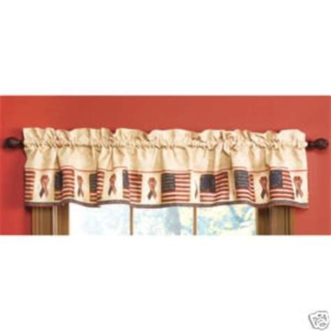 patriotic americana flag window valance by