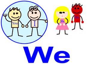 we colors clipart pronoun we