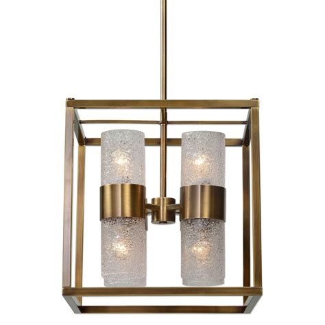 Uttermost Lighting Fixtures Marinot 8 Light Cube Pendant Uttermost Lighting Fixtures