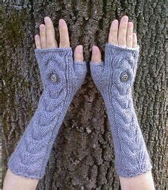 owl oatmeal long hand knit cable pattern fingerless gloves knitting pattern owl cable knit fingerless mittens pdf