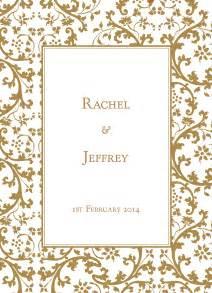 gold wedding invitations 3 gold wedding invitation borders clip 15838 wedding