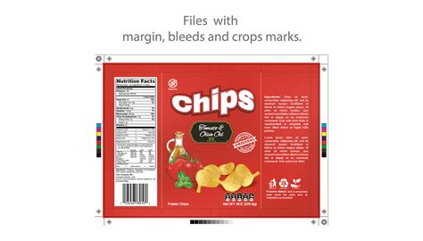 Chips Potato Mockup And Template Packaging On Behance Chip Label Template