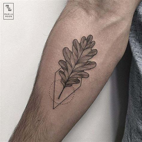 oak leaf tattoo oak leaf best ideas gallery