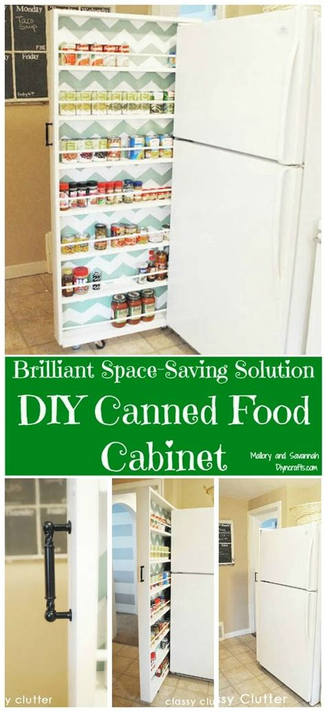 diy space saver spice rack brilliant space saving solution diy canned food cabinet searching cabinets and spice racks