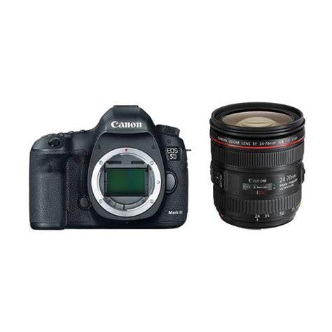 canon eos 5d mark iii dslr camera body and canon ef 24