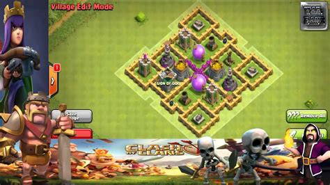 layout coc th6 hybrid clash of clans town hall 6 defense best coc th6 hybrid