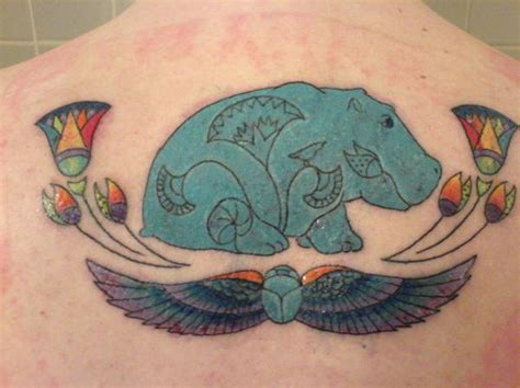 hippo tattoo faience hippo picture