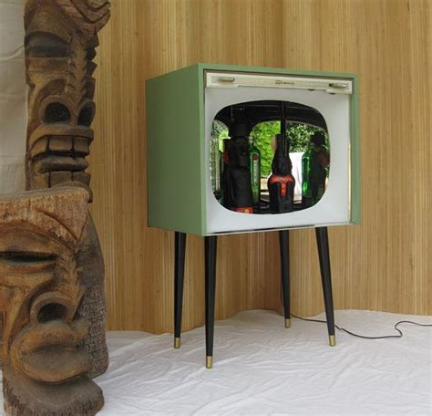 vintage 50 s upcycled repurposed tv television bar cabinet