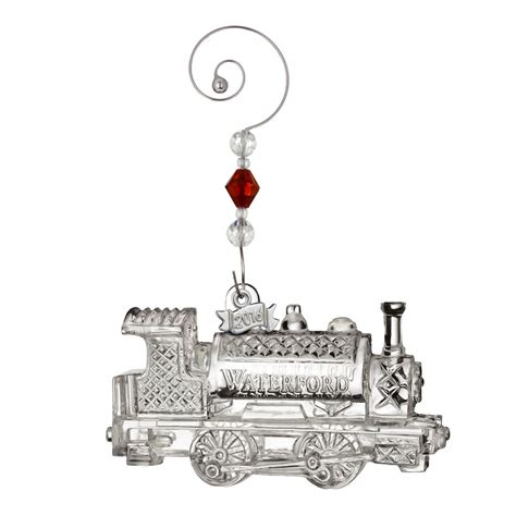 waterford crystal train engine ornament 2016 silver